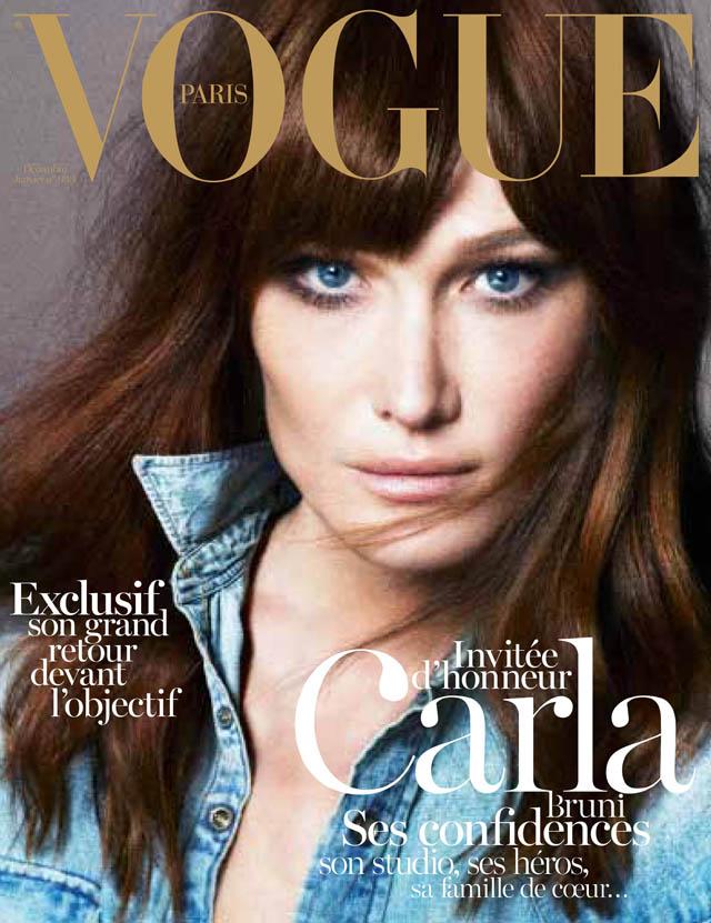 Carla Bruni Vogue Paris cover