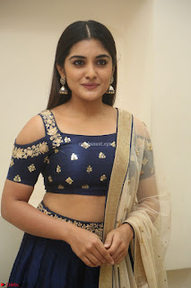 Niveda Thomas in Lovely Blue Cold Shoulder Ghagra Choli Transparent Chunni ~ Exclusive Celebrities Galleries 026