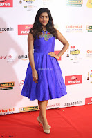 Eesha in Cute Blue Sleevelss Short Frock at Mirchi Music Awards South 2017 ~  Exclusive Celebrities Galleries 023.JPG
