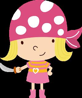niña pirata rosa para imprimir