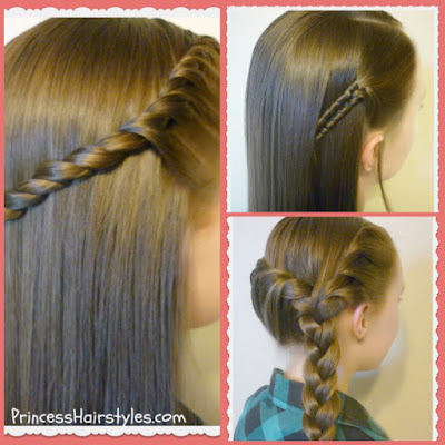 3 Quick and Simple Braided Hairstyles. Back To School Video Tutorial.