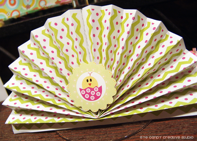 easter decorating ideas, easter party craft, accordian fan decor
