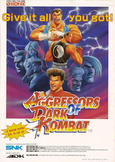 Aggressors of Dark Kombat+arcade+2d+game+fighter+portable+art+flyer