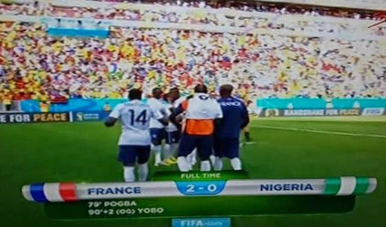 And Nigeria is out of the world cup
