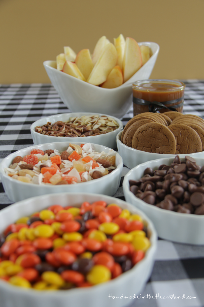 Caramel Apple Sundae Bar