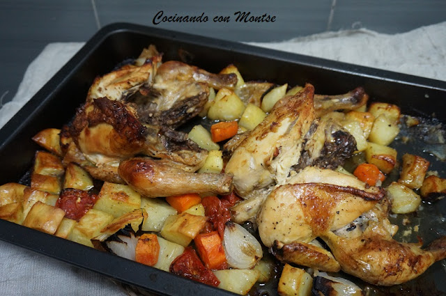 Pollo al horno a...