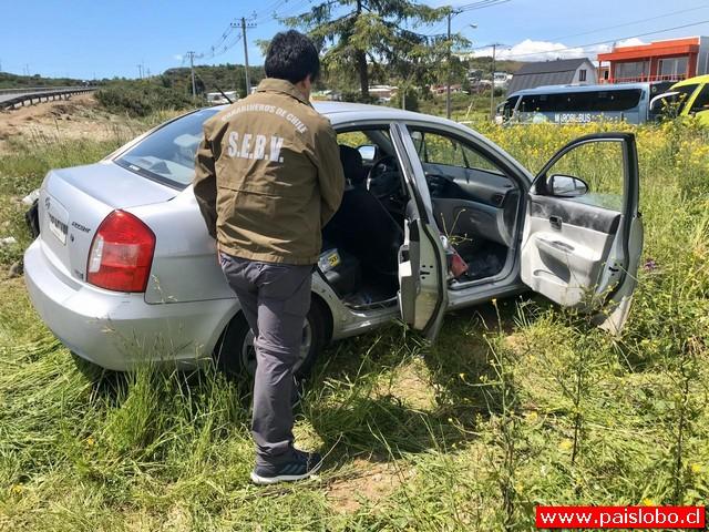 Vehículo recuperado habría participado en robo a Mall de Puerto Montt