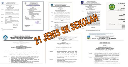 DOWNLOAD 21 JENIS SK KEBUTUHAN SEKOLAH LENGKAP DENGAN KODE SURAT