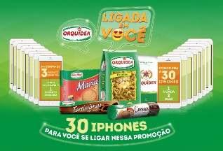 Cadastrar Promoção Orquídea Produtos Ligada em Você 30 iPhones
