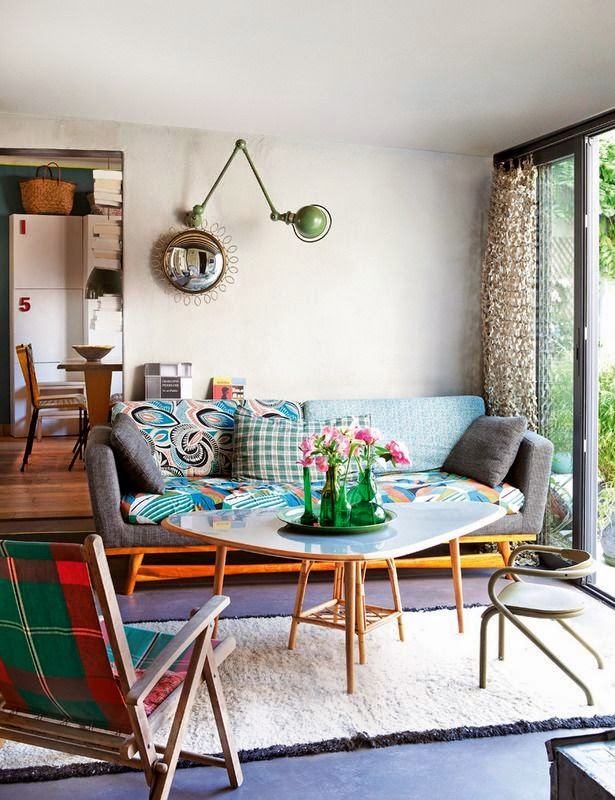 Una casa hippy e kid-friendly