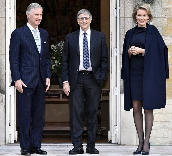 King Philippe, Queen Mathilde met with Bill Gates and Melinda Gates at Brussels Royal Palace in Belgium
