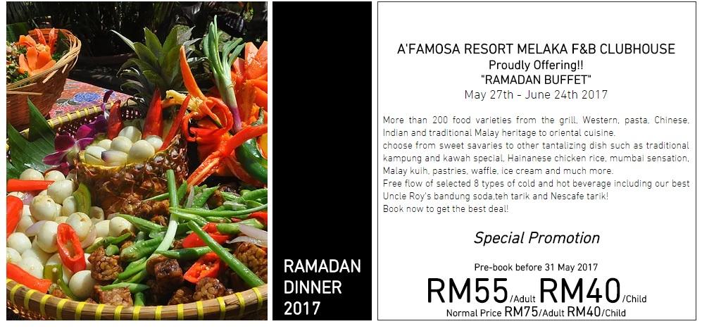 buffet ramadhan di afamosa melaka