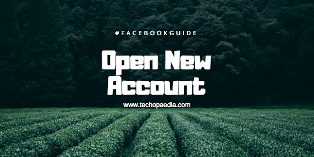 Facebook open new account registration