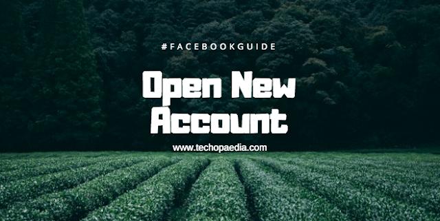Facebook open new account registration