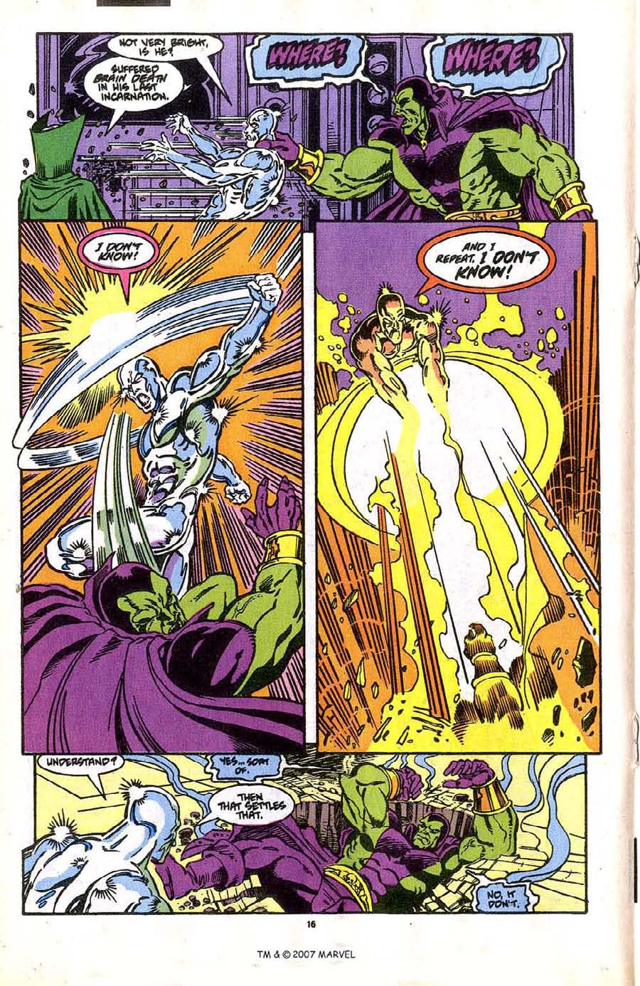 Read online Silver Surfer (1987) comic -  Issue #37 - 18