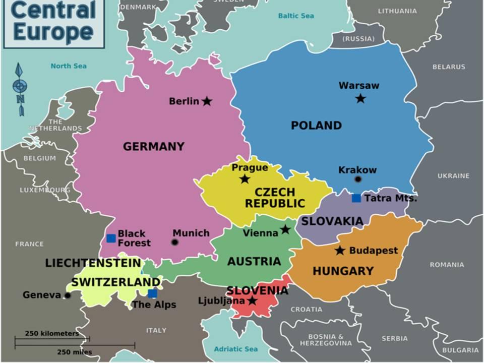 mapa srednje evrope CENTRALNA EVROPA // Iva Poskurica M 11/15 // Petar Brčić M 11/111  mapa srednje evrope