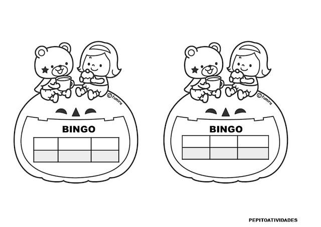 Atividade lúdica Halloween Bingo