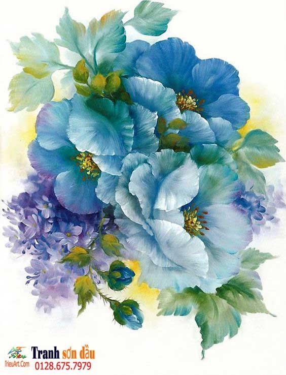 ve hoa sơn dầu