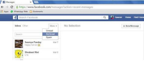 How to Read Archived Facebook Messages