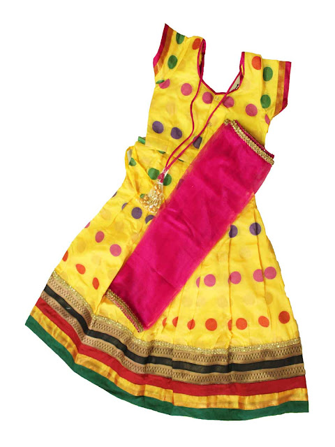 kids girls half saree langa voni dhavani traditional ethnic wear online