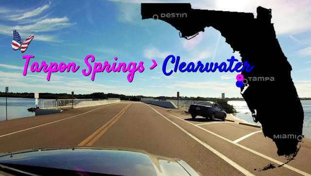 Tarpon Springs nach Clearwater, Florida USA