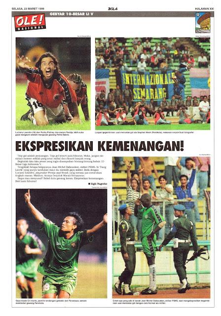 10 BESAR LIGA INDONESIA V EKSPRESIKAN KEMENANGAN