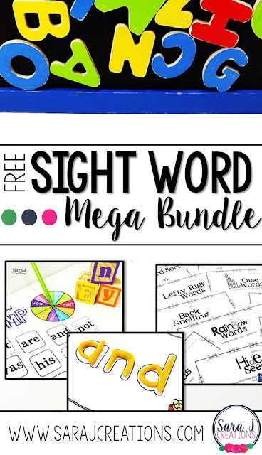 75+ pages of FREE sight words games, activities and more for making sight words fun and hands on.