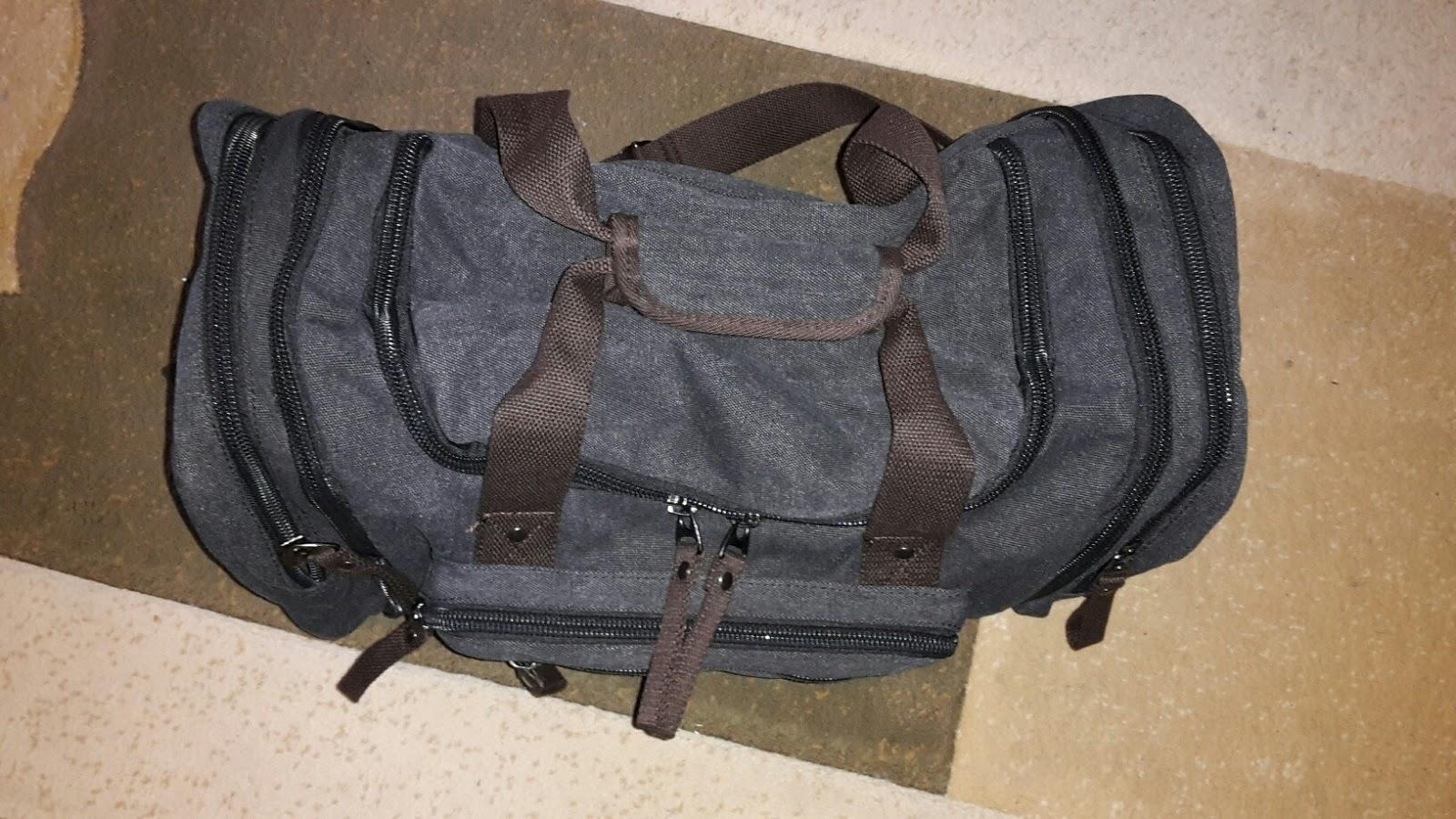 Laser Entfernungsmesser Handgepäck : Monas blog: fafada 40l canvas sporttasche reisetasche großräumige