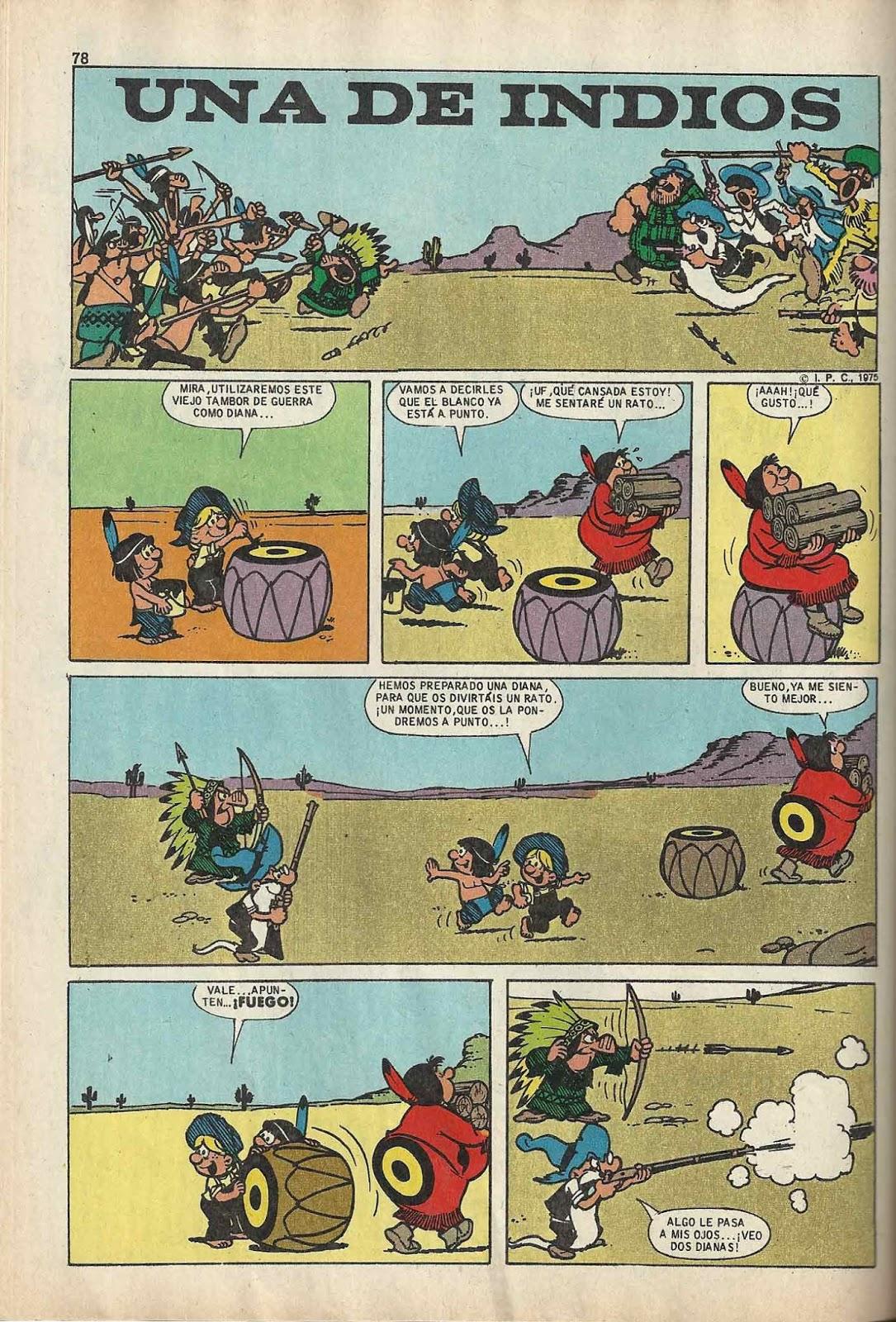 Una de Indios es el título español de Ug and Tug publicada por Bruguera en Zipi y Zape