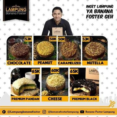 Varian Rasa Banana Foster Lampung