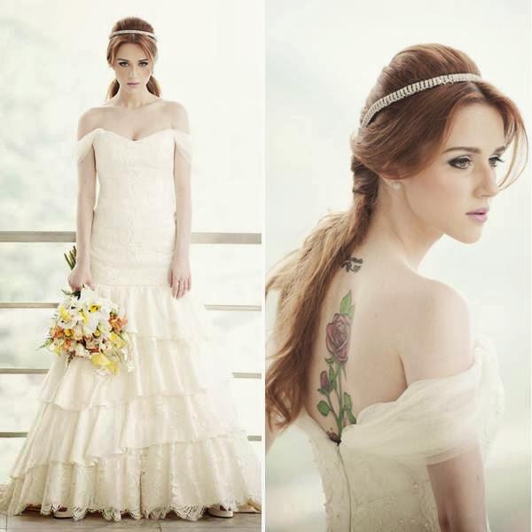 Noiva mega princesa e moderna, como vestido de noiva da Carol Hungria, como inspiração da semana para vocês!