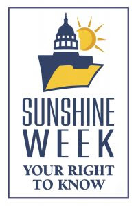"Sunshine Week logo - ""Your Right to Know"""