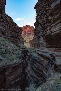 avery potter deer creek looking into grand canyon of the colorado