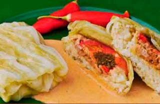 Cocina Ecuatoriana - Tamal de arroz en hoja de col