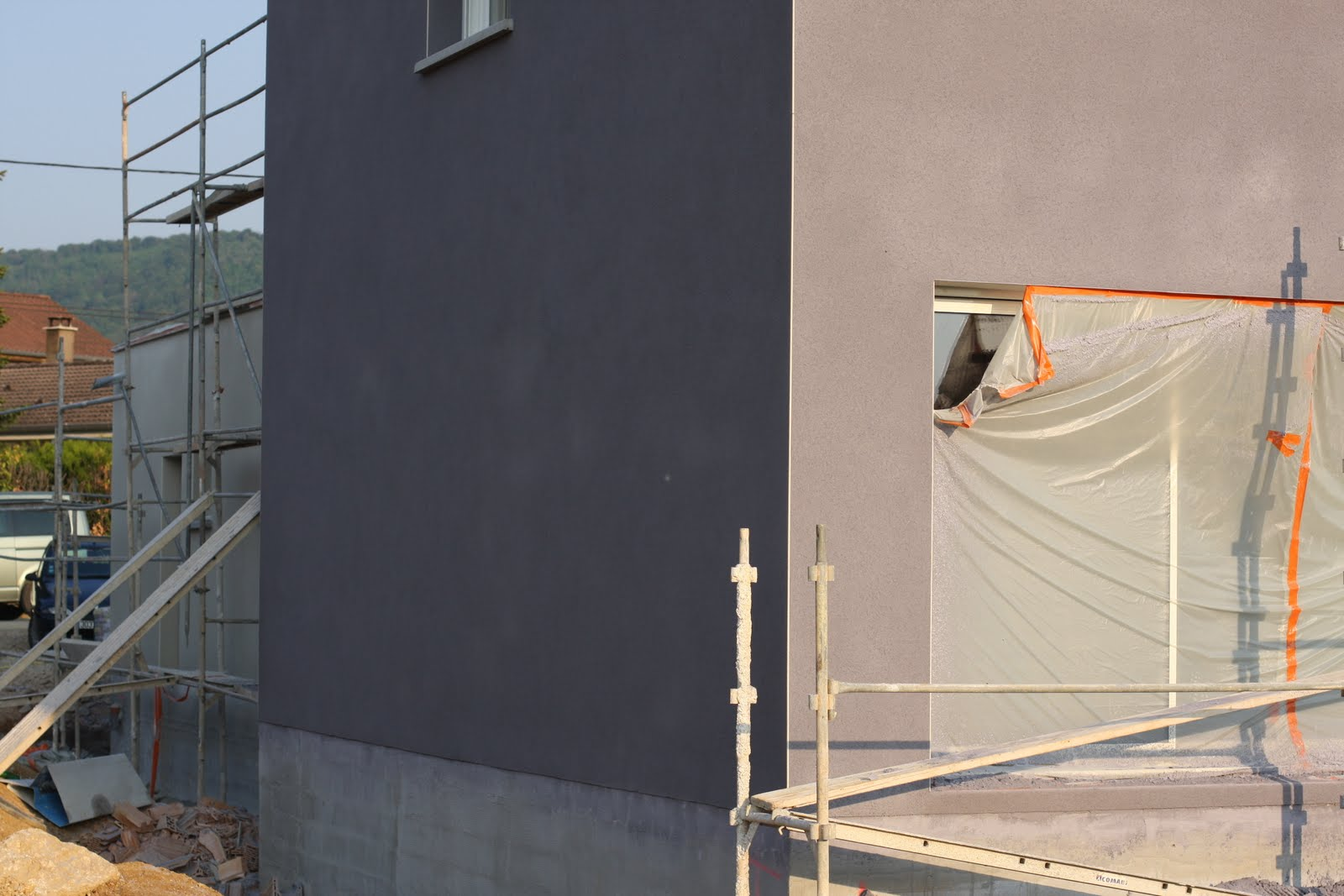notre maison pose de l 39 enduit avril 2011. Black Bedroom Furniture Sets. Home Design Ideas