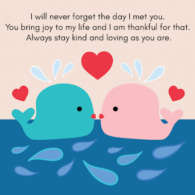 unique love quotes will never forget the fay I met you. You bring joy to my life and thankful foe than always stay and loving as you are.
