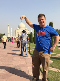 Stinky Ninja tee shirt at Taj Mahal