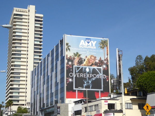 Giant Amy Schumer Overexposed x-ray billboard