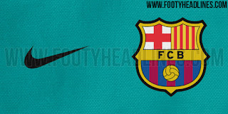 Warna biru teal yang akan di gunakan di jersey away Barcelona musim 2015/2016 di enkosa sport toko online di tanah abang