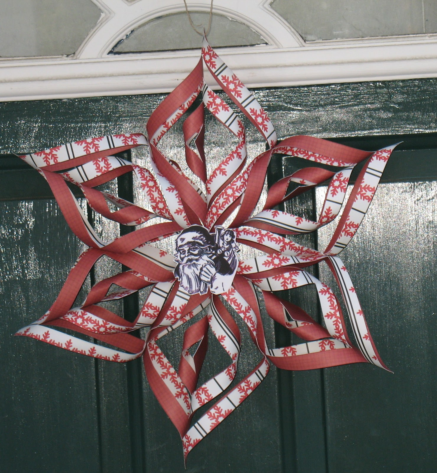 Chattering Robins: Christmas Star Door Decoration
