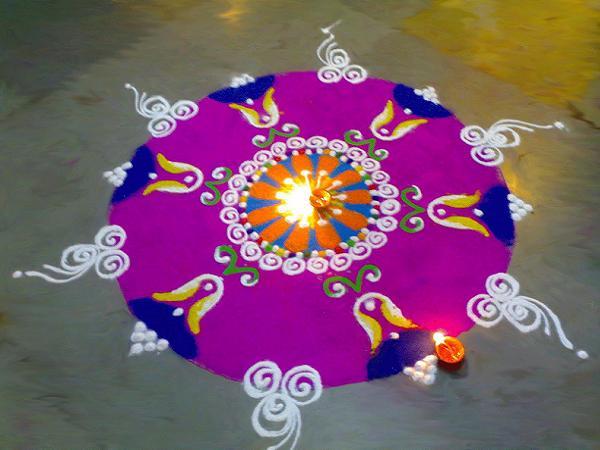 Diwali Rangoli Designs with Dots