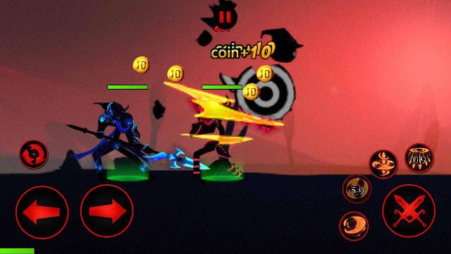 gameplay Cheat League of stickman mod apk