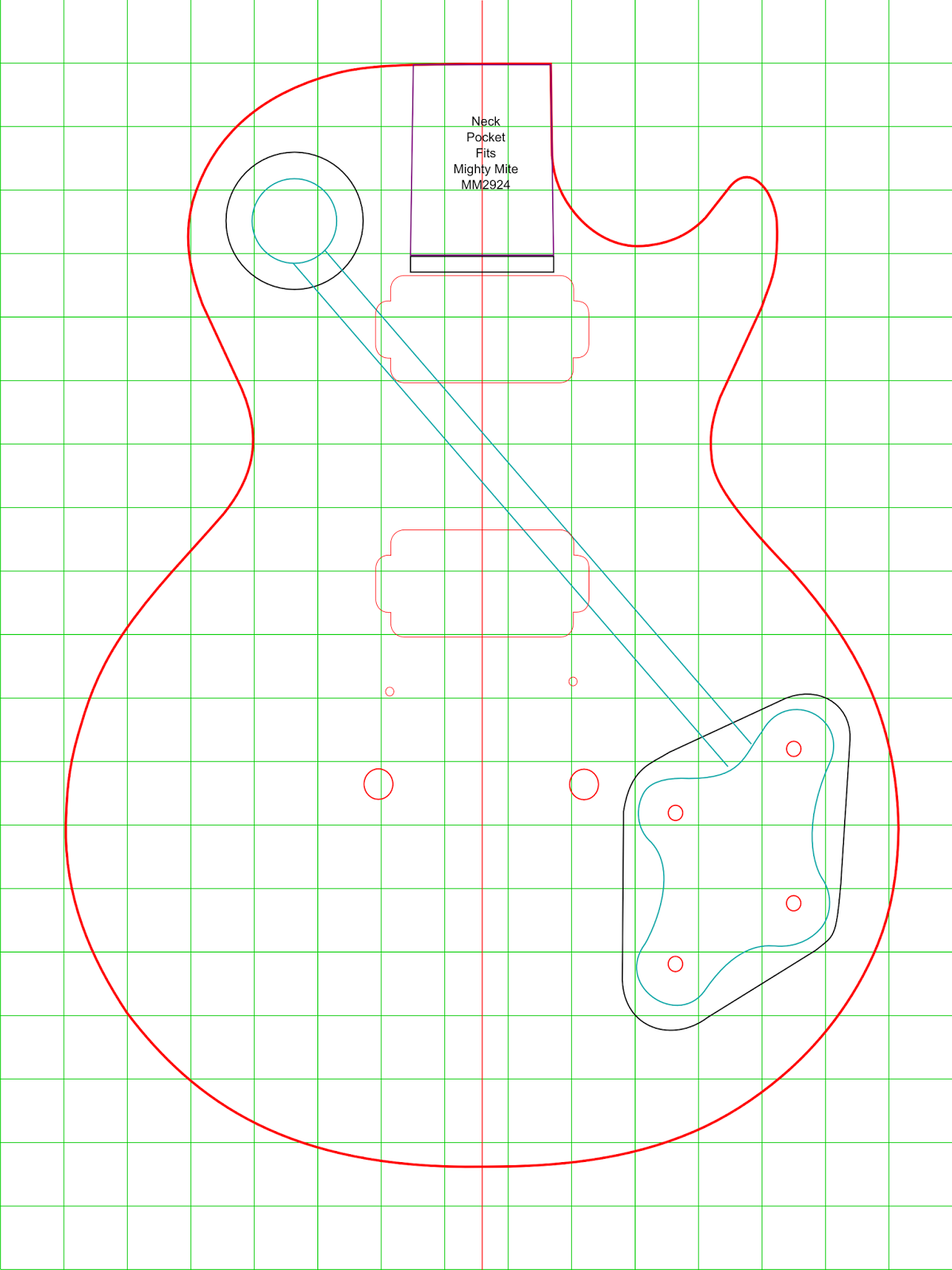 The Les Paul Templates I Have Found On Internet Been Very Helpful But None Of Them Proven To Be As Accurate Desired