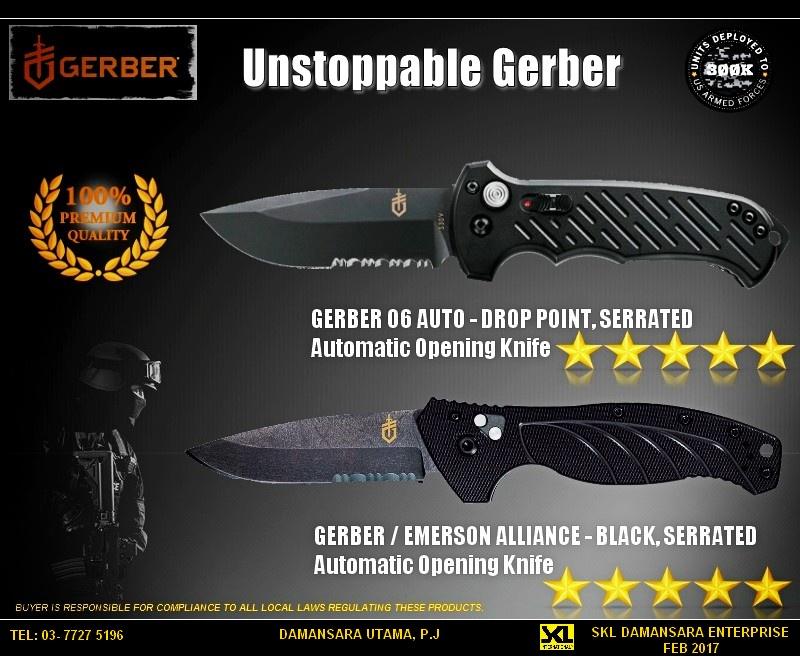 Gerber Military Grade Auto Folding Blade