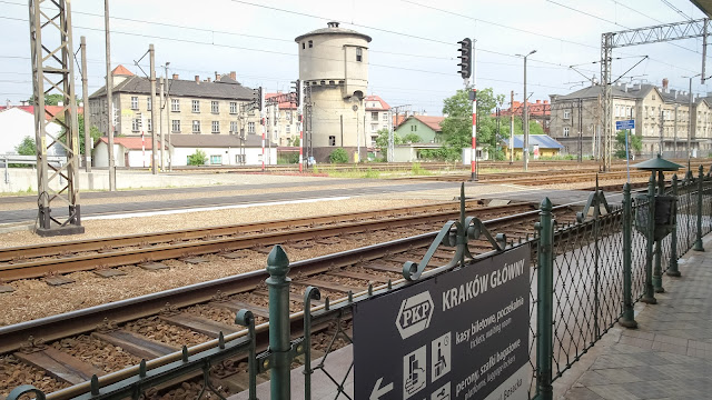 Arriving in Karkow by train.