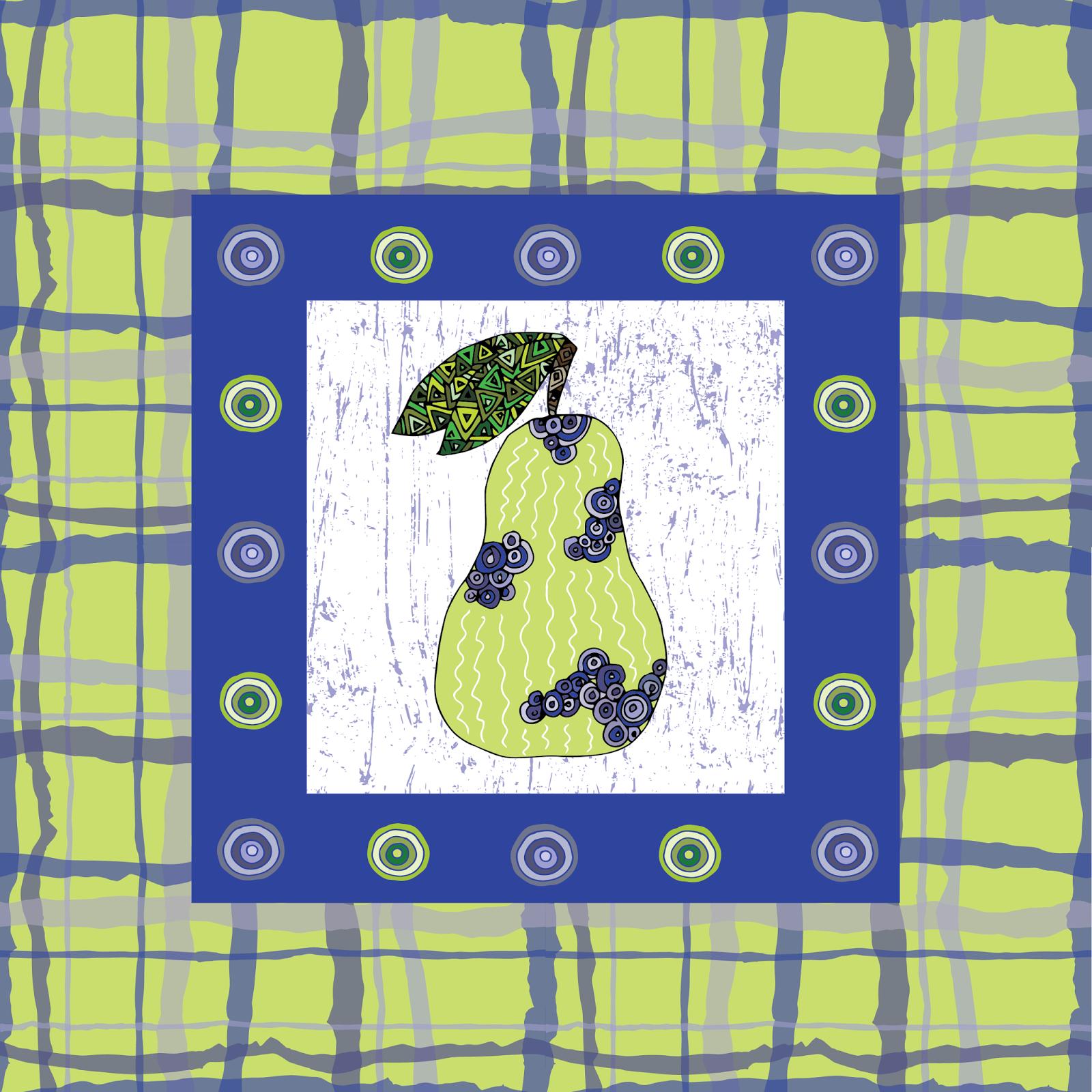 Country Plaid Pear PRint