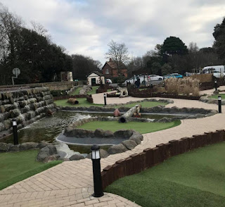 Wildforest Falls Adventure Golf at Hotham Park in Bognor Regis. Photo by Matt Dodd, January 2019