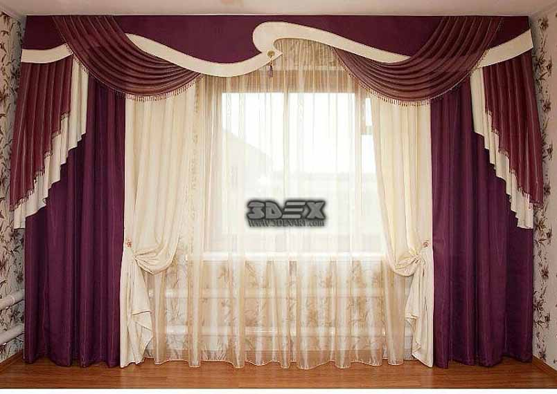 Modern Curtains Designs For Living Room Hall Window Treatment