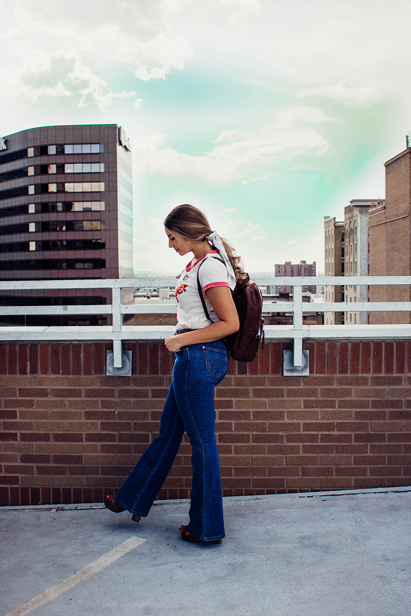 bell bottom jeans, high waist jeans, utah fashion blog