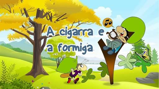 Atividades de alfabetização em Word para baixar grátis com a fábula a cigarra e a formiga